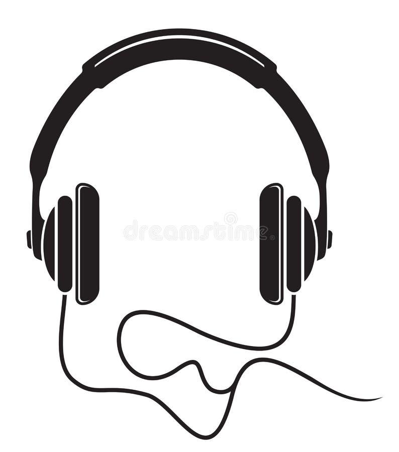 Musikhörlurarsymbol royaltyfri illustrationer