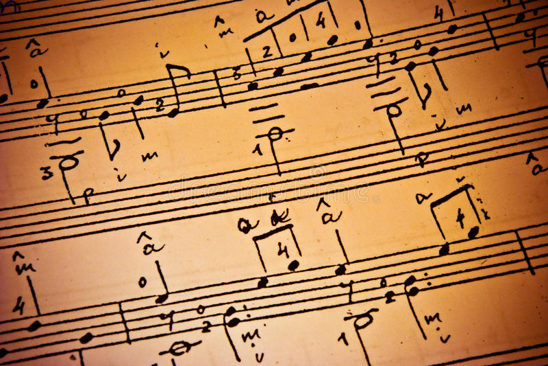Musikhintergrund stockfoto
