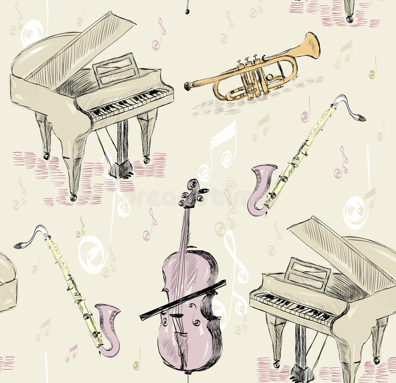Musikhupe stellte 3 ein stock abbildung