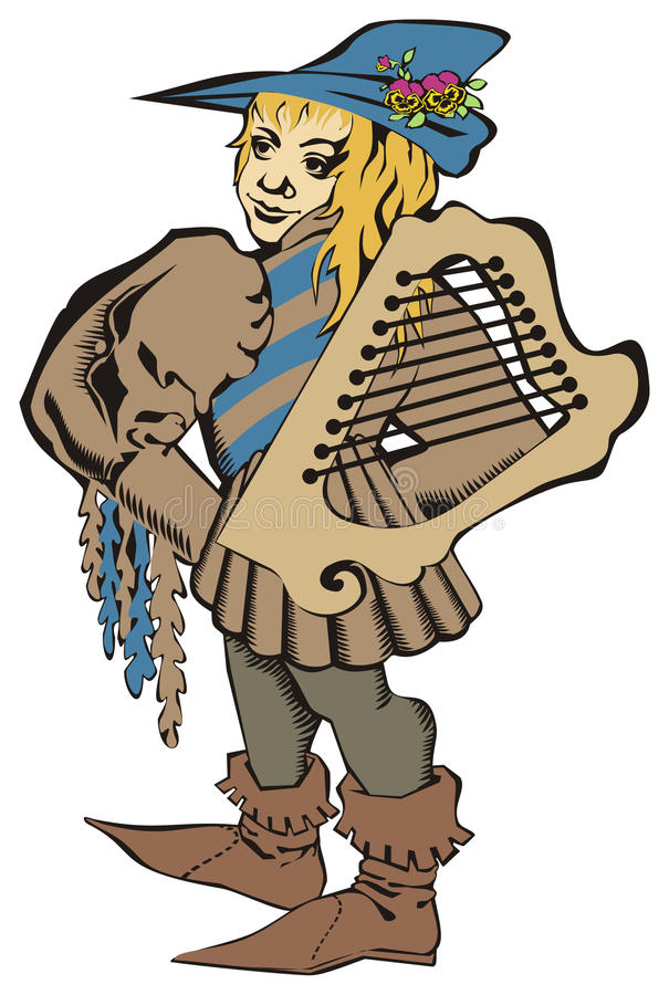 Download Musikiant stock vector. Image of bard, troubadour, musician - 10799990