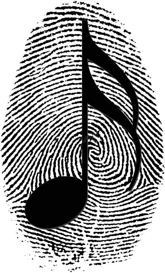 Musikidentifikation stock abbildung