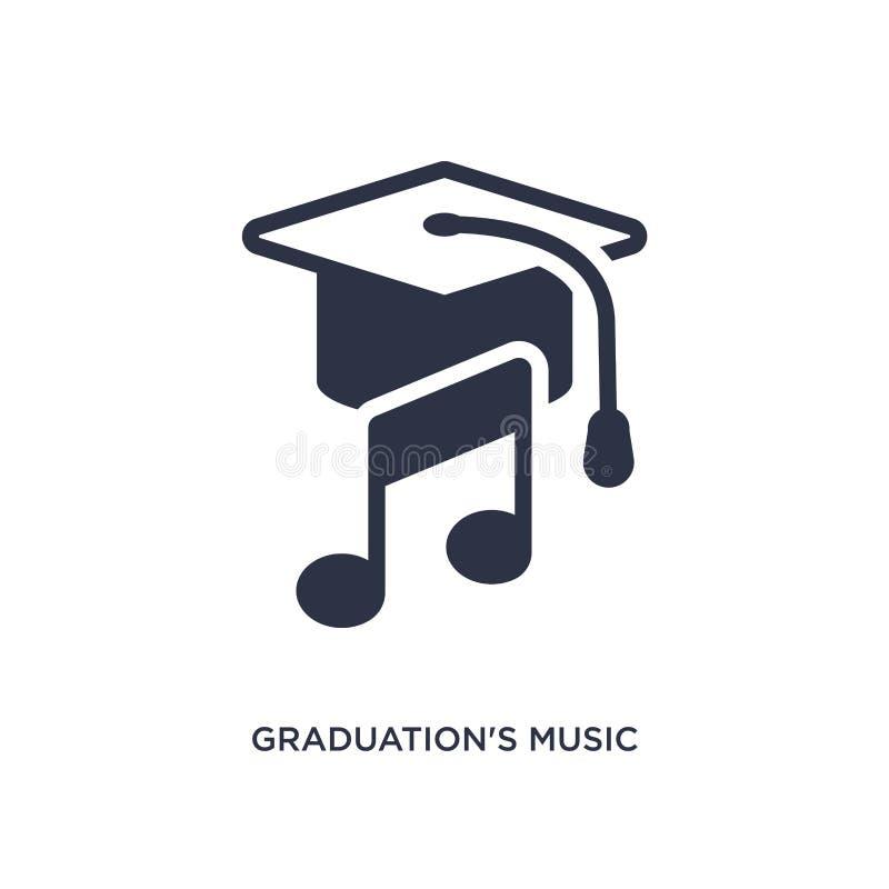 Musikikone der Staffelung auf weißem Hintergrund Einfache Elementillustration vom Ausbildungskonzept lizenzfreie abbildung