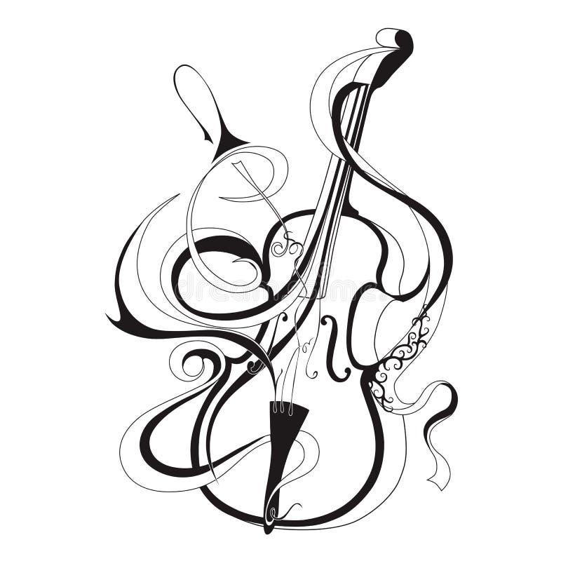Musikinstrument der abstrakten Vektorillustration vektor abbildung