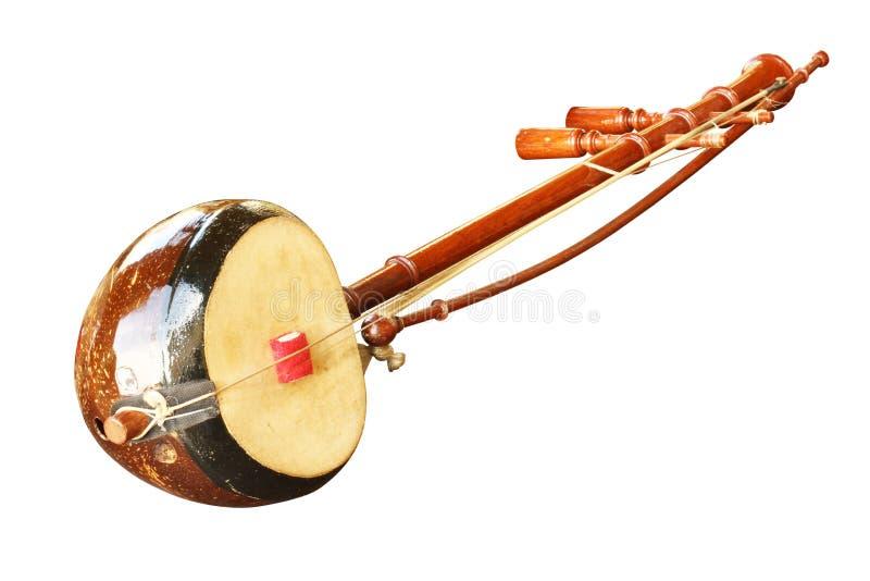 Musikinstrument der siamesischen Geige stockbild