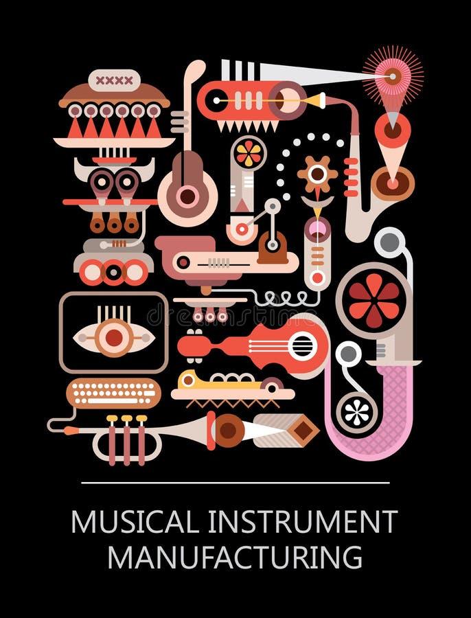 Musikinstrument-Herstellung lizenzfreie abbildung