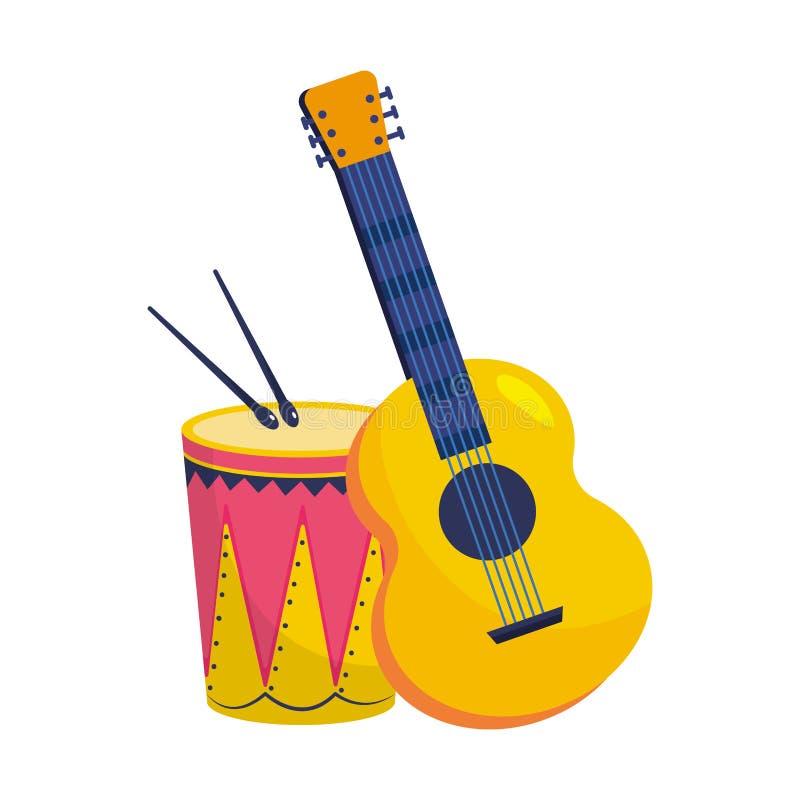 Musikinstrument TRUMMAR stock illustrationer