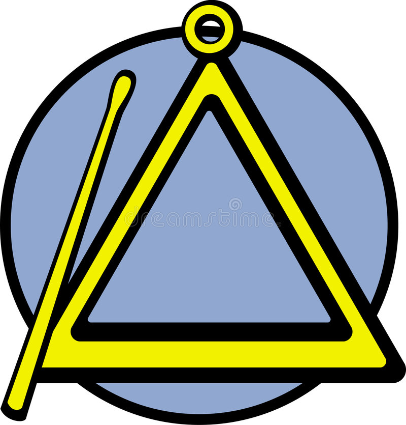 Musikinstrument-vektorabbildung des Dreiecks lizenzfreie abbildung