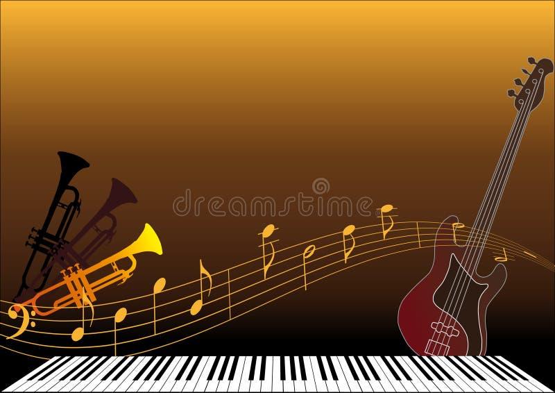 Musikinstrumente stock abbildung