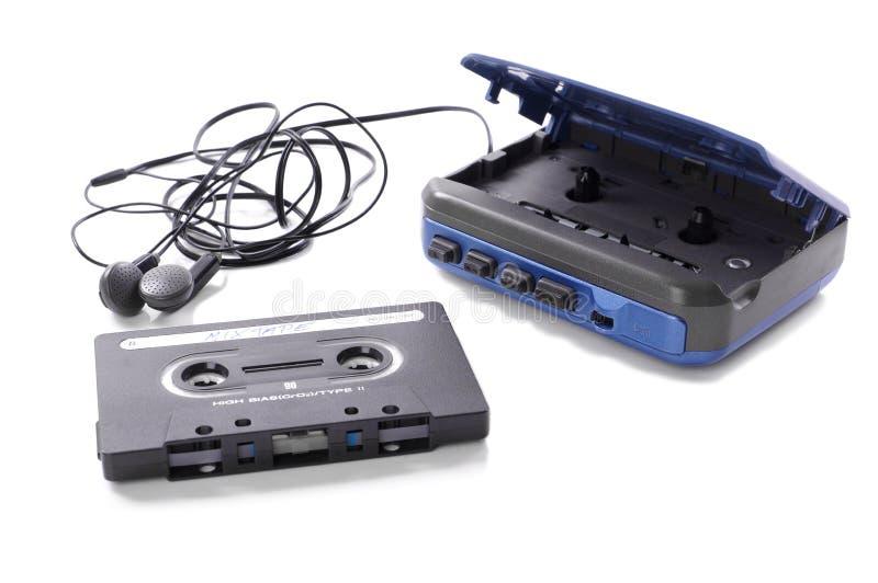 Musikkassett och walkman royaltyfri foto