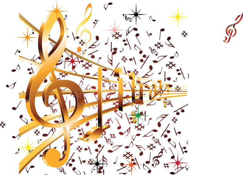 Musikkonst royaltyfri bild