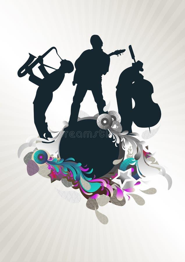 Musikkonzertmedaillon lizenzfreie abbildung