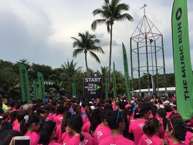 Musiklauf Singapur 2015 lizenzfreie stockfotografie