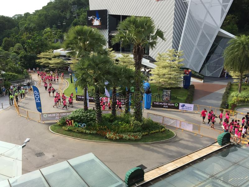 Musiklauf Singapur 2015 lizenzfreies stockbild