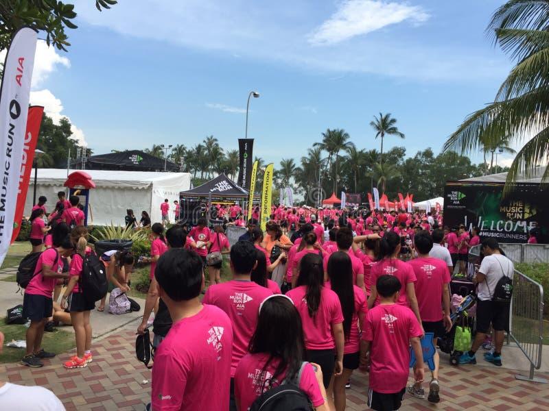 Musiklauf Singapur 2015 lizenzfreie stockbilder
