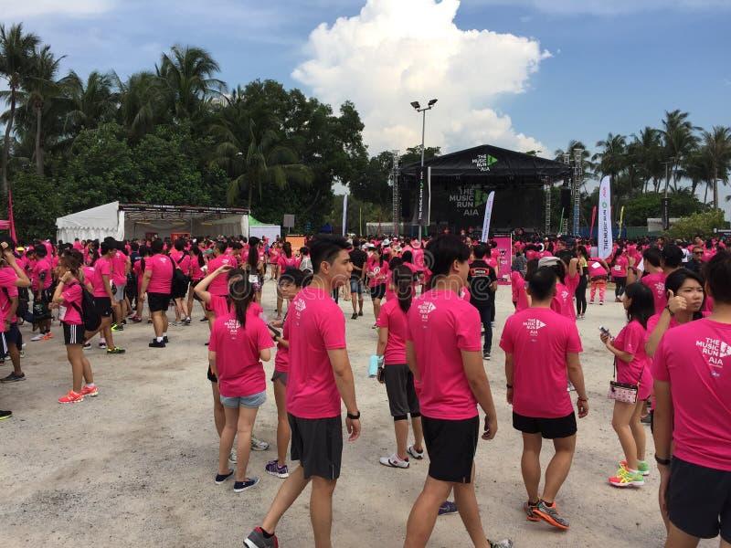 Musiklauf Singapur 2015 stockfoto