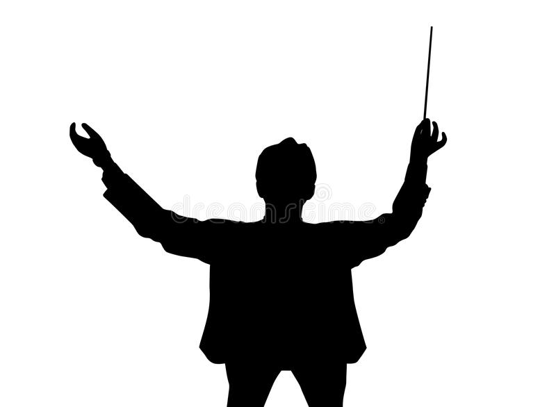 Musikleiterrückseite von einem bird& x27; s-Augenansicht stock abbildung