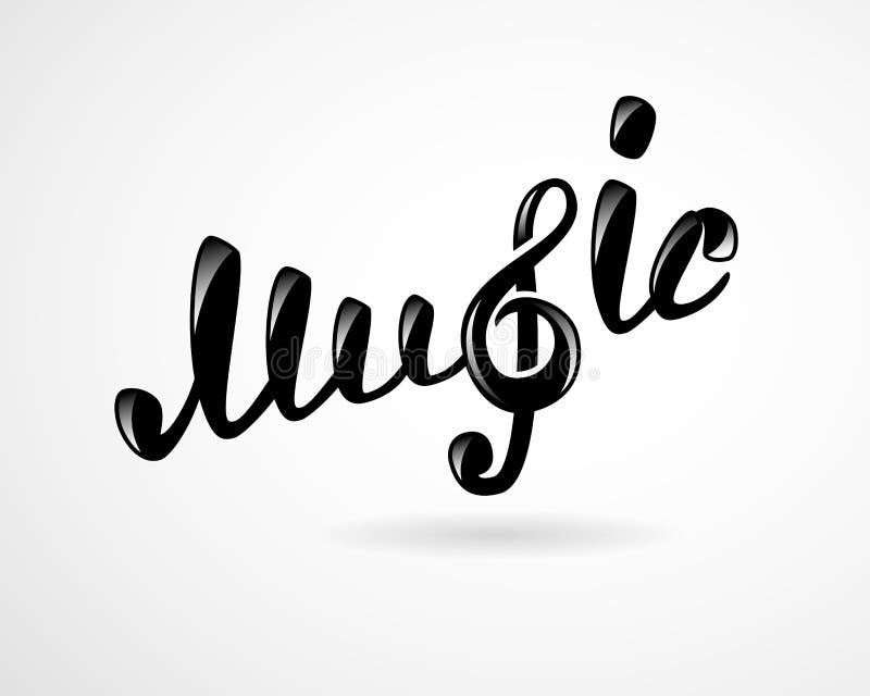 Musiklogo på vit vektor illustrationer
