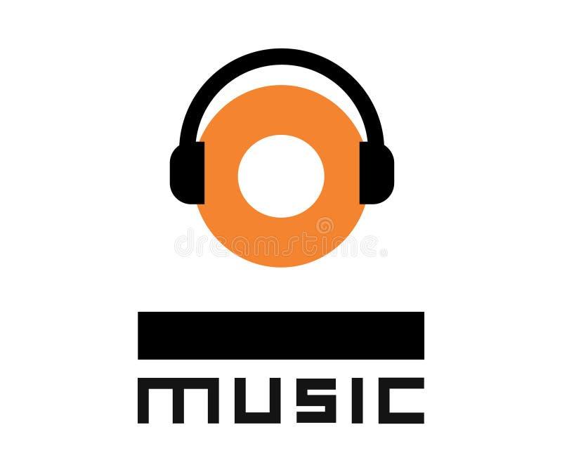 Musiklogodesign stock abbildung