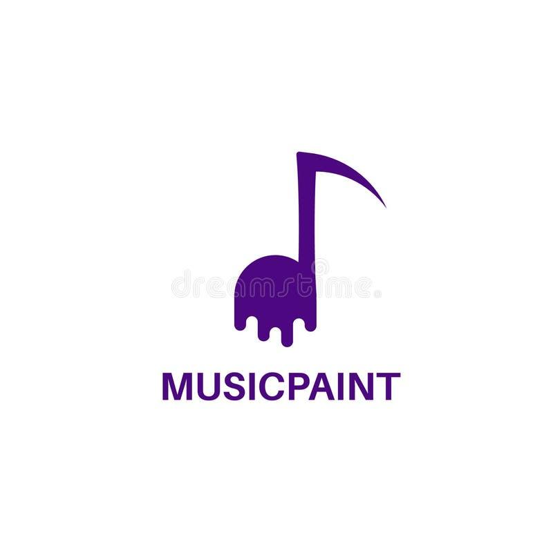 Musikmålarfärg, musikkonst Vektorlogomall royaltyfri foto
