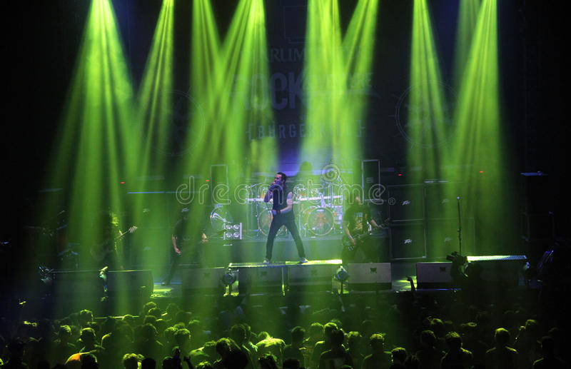 Musikmetallfestival royaltyfria bilder