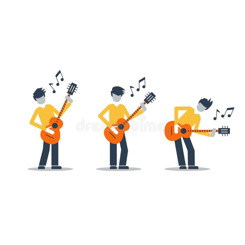 Musikmusikbandkapacitet Ljus attraktiv illustration för en räkning eller en affisch vektor illustrationer