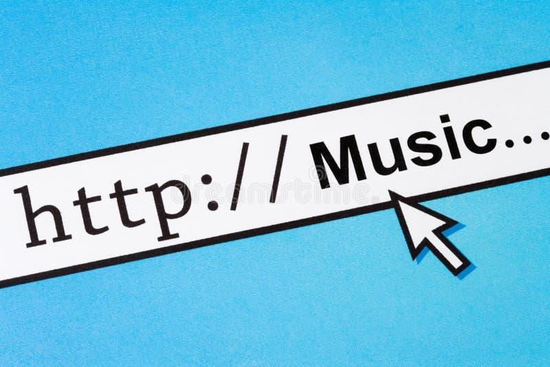 musikonline-sökande royaltyfri foto