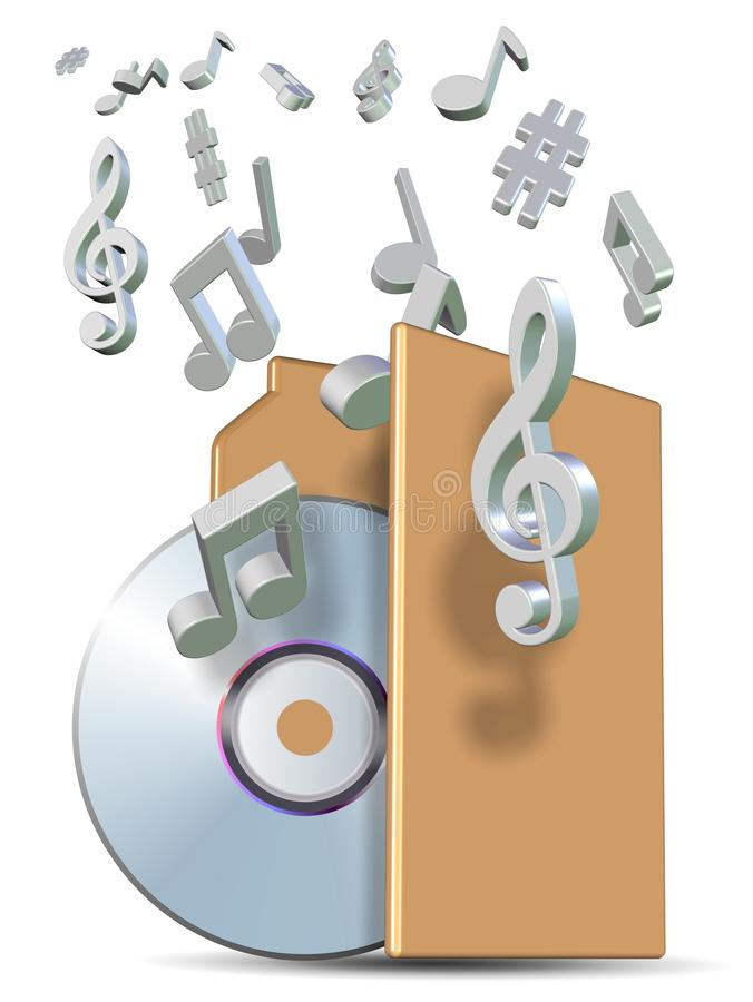 Musikordner lizenzfreie abbildung