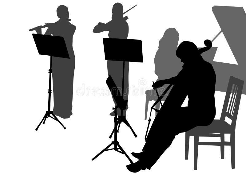 musikorkester vektor illustrationer