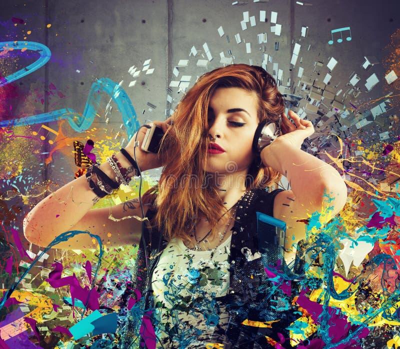 Musikpassion fotografering för bildbyråer