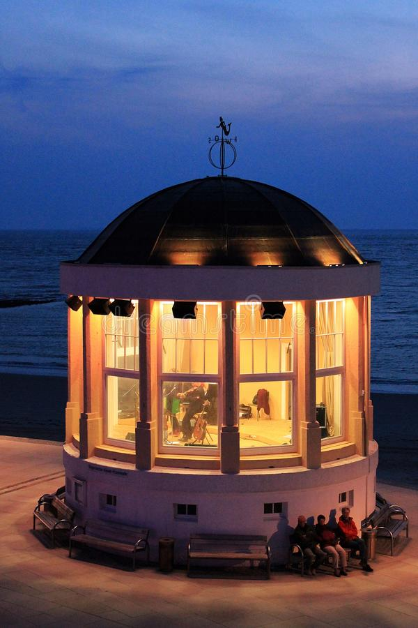 Free Musikpavillion In The Seafront From Borkum. Stock Image - 51792241