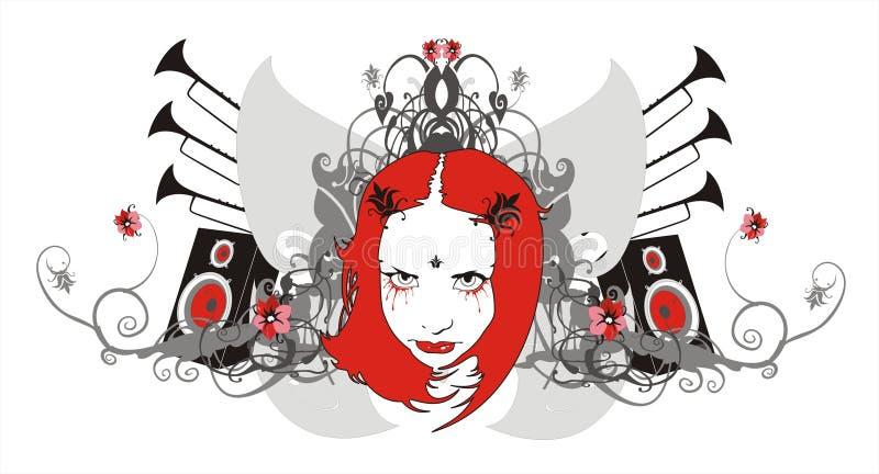 musikprydnad royaltyfri illustrationer