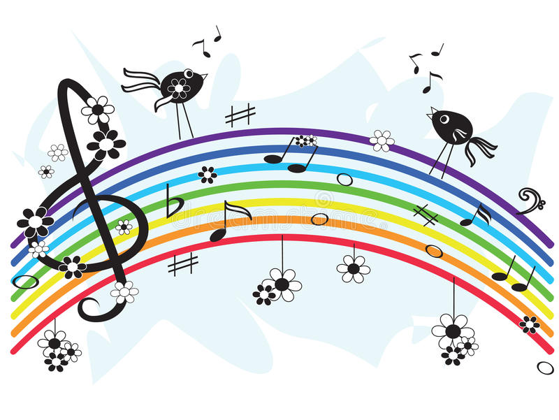musikregnbåge royaltyfri illustrationer