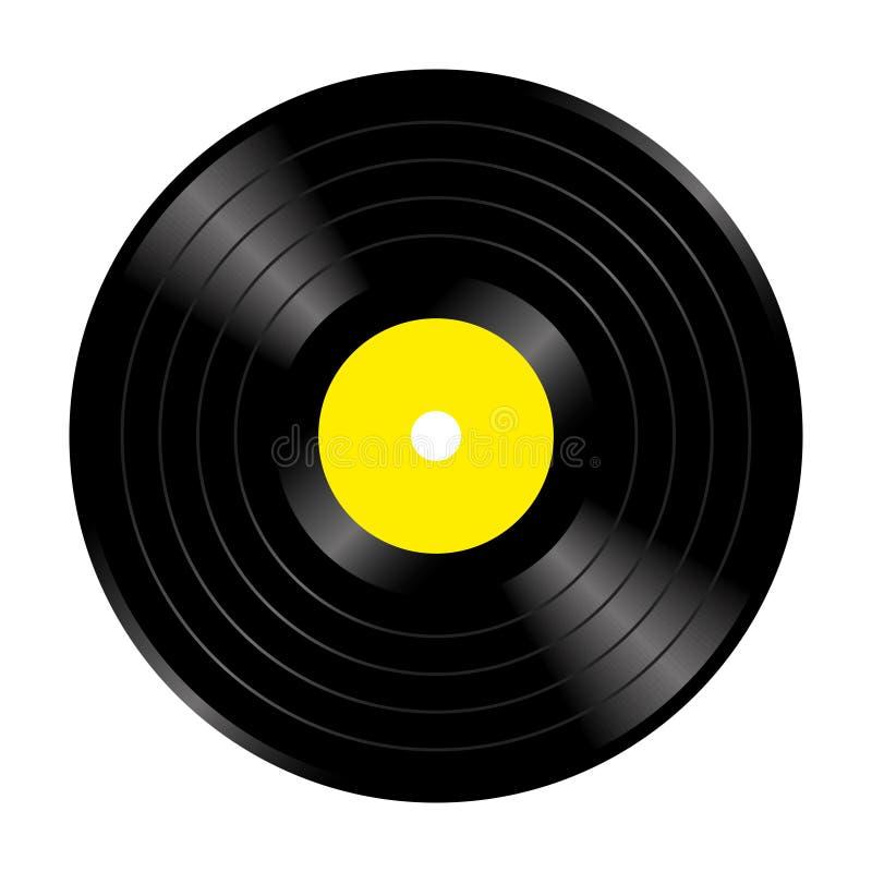 Musikrekord stock illustrationer