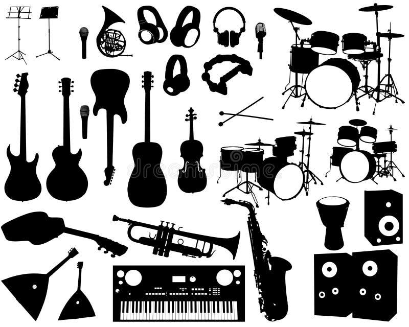 Musiksamling royaltyfri illustrationer