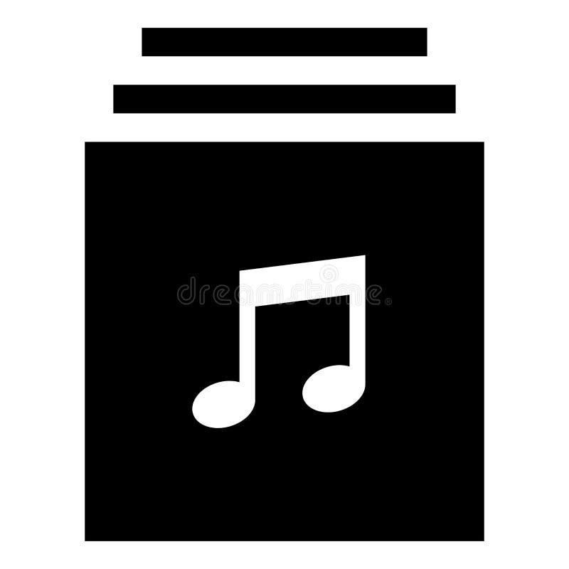 Musiksamlingssymbol royaltyfri fotografi