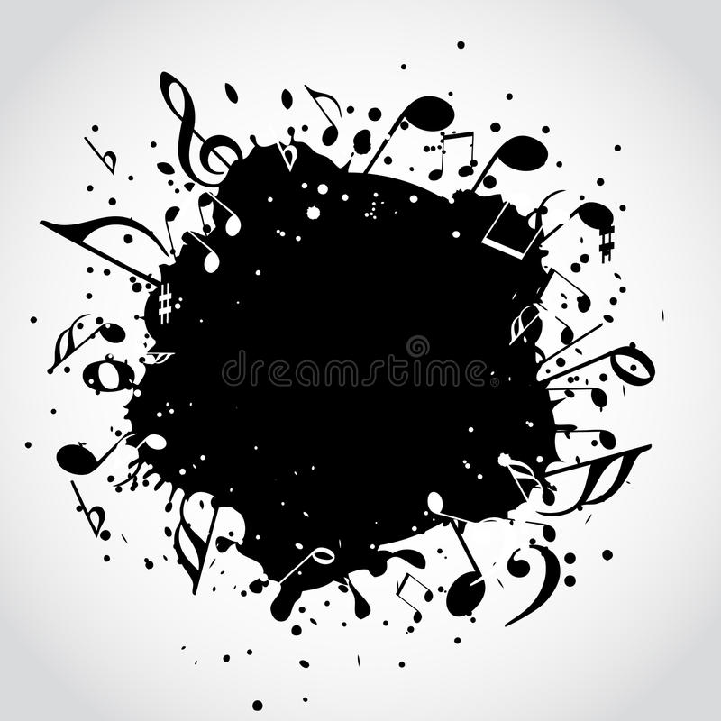 Musikschwarzfleck lizenzfreie abbildung