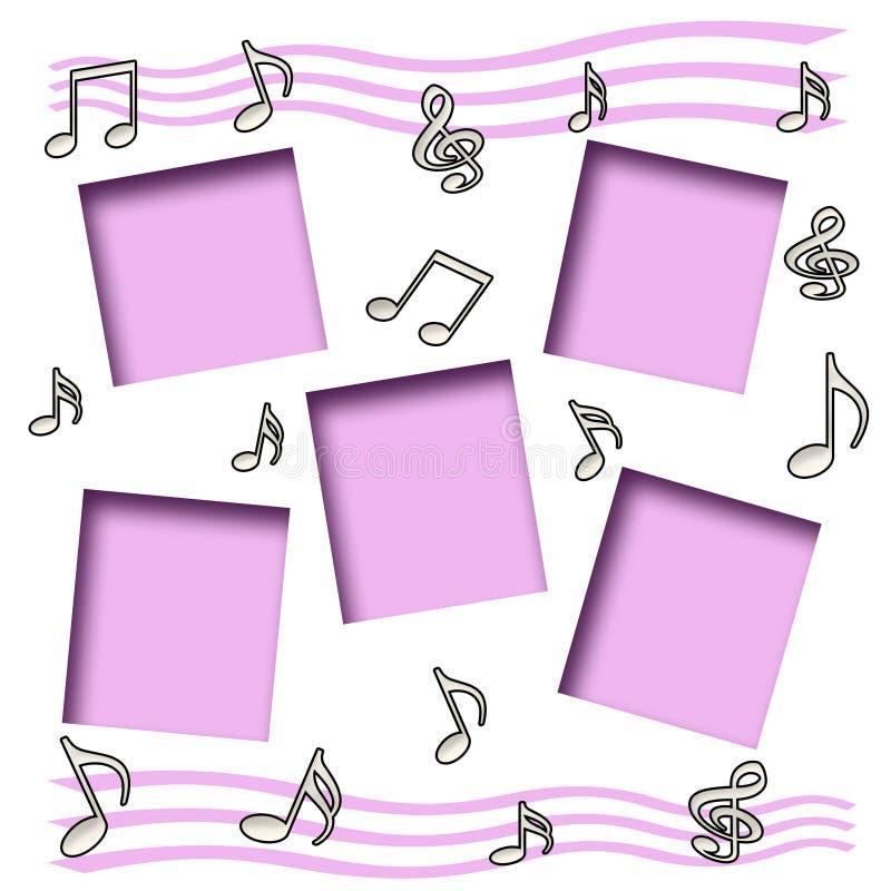 musikscrapbook vektor illustrationer