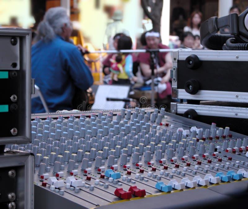 musikshowgata arkivbild