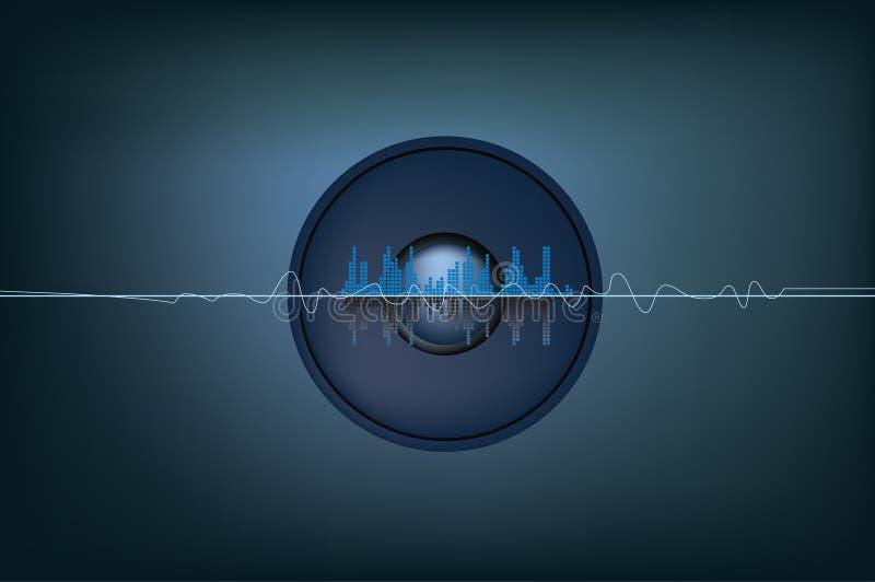 musiksoundwaves vektor illustrationer