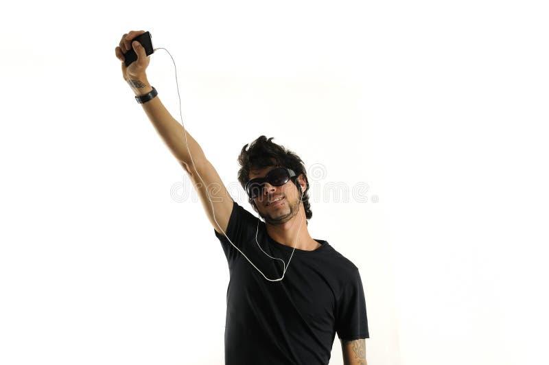 Musikspieler lizenzfreie stockfotografie