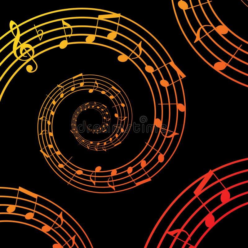 Musikspirale vektor abbildung