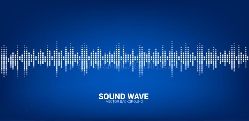 Musiksprachaudio-visuelle Signal-Pixelart lizenzfreie abbildung