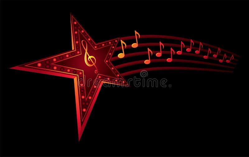 musikstjärna stock illustrationer