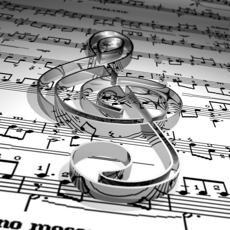 musiksymbol stock illustrationer