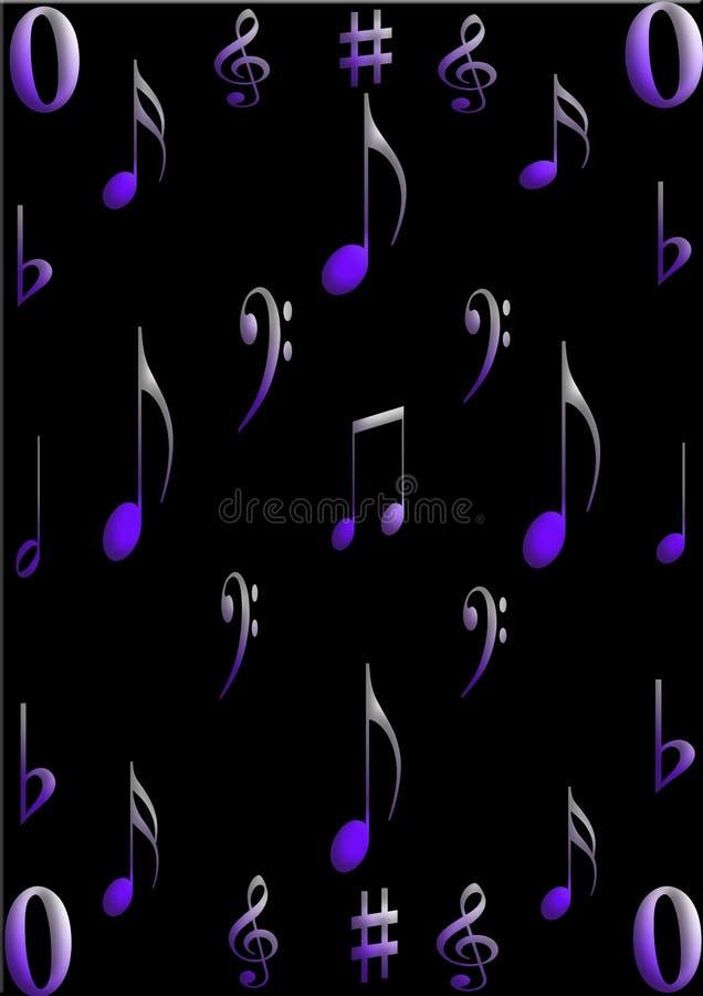 Musiksymbole stockfotos