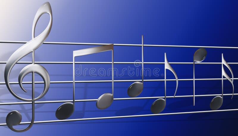 musiksymboler royaltyfri illustrationer