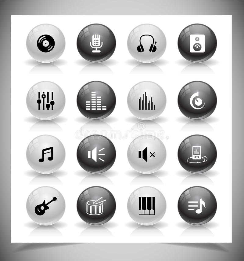 Musiksymboler royaltyfri fotografi