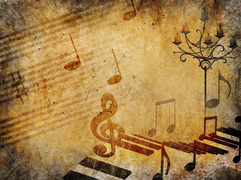 Musiktappningbakgrund, grungestil royaltyfri illustrationer