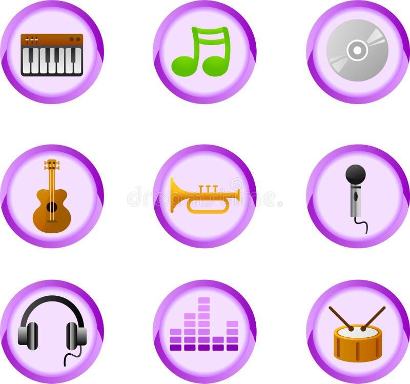 Musiktasten stock abbildung