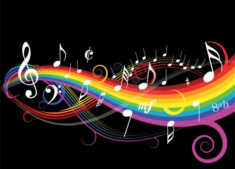 musiktema vektor illustrationer
